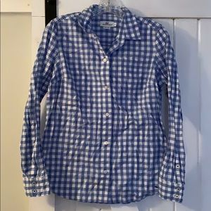 Vineyard Vines gingham button down size 6
